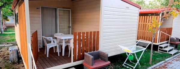 Villaggio Europa esterno Casa Mobile Tipo E