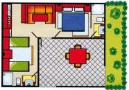 Piantina Casa Mobile Tipo A
