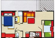 Piantina Villaggio Europa Casa Mobile Tipo C