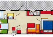 Piantina Villaggio Europa Casa Mobile Tipo D 5 posti